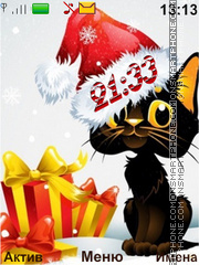 Christmas kitten tema screenshot