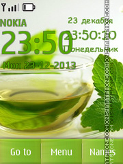 Drink with mint leaves theme screenshot