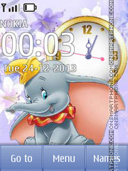 Little elephant Dumbo theme screenshot
