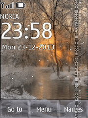 Winter sunset tema screenshot