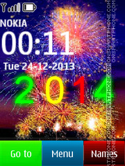 New Years Eve 2014 Fireworks theme screenshot