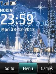 Winter Night Digital Clock theme screenshot