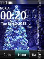 Blue Christmas Tree Digital theme screenshot