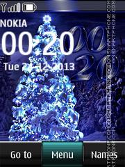 Скриншот темы Blue Christmas Tree Digital