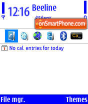 Blue+ White theme screenshot