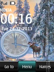 Скриншот темы Elk in Winter Forest