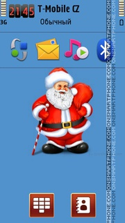 Santa Claus Illustration theme screenshot