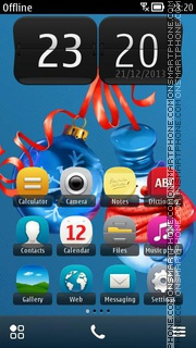 Christmas Tree Toys 01 theme screenshot