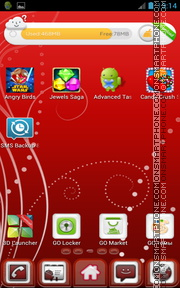 Red and White 01 tema screenshot