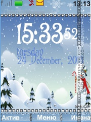 Snowmen theme screenshot