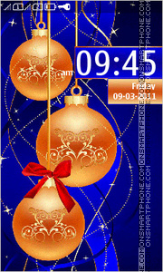 Christmas Balls 01 theme screenshot