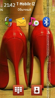 Red Heels tema screenshot