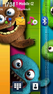 Monsters Shelf theme screenshot