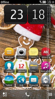 Christmas Ginger Bread theme screenshot