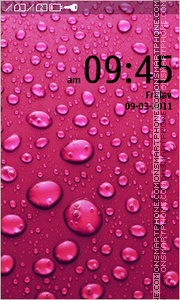 Pink drops theme screenshot