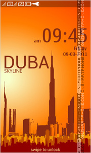 Dubai Skyline 01 theme screenshot