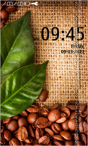 Coffee beans theme screenshot