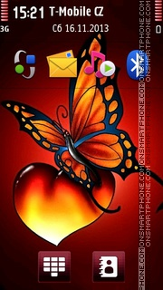Butterfly And Heart 01 es el tema de pantalla