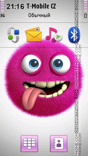 3D Pink Monster theme screenshot