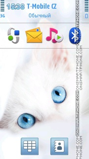 Kitten with Two Blue Eyes theme screenshot