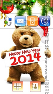 Happy New Year 2014 with Ted theme screenshot