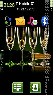 Happy New Year 2014 01 es el tema de pantalla
