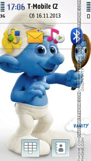 Vanity Smurfs theme screenshot