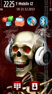 DJ Red Skeleton tema screenshot