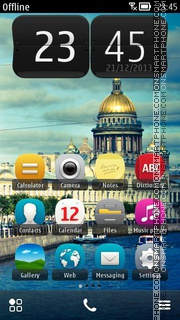 St. Petersburg Russia theme screenshot