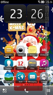 Funny Santa 01 theme screenshot
