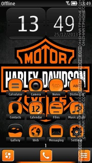 Harley Davidson 08 theme screenshot
