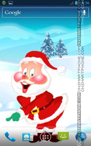 Celebrating Santa theme screenshot