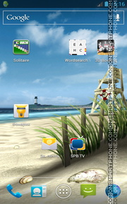 My Beach HD theme screenshot