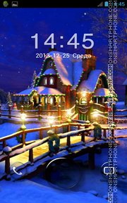 Christmas House Go Locker theme screenshot