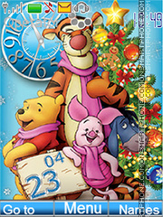 Скриншот темы Happy Holidays (Winnie the Pooh and his friends)