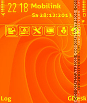 Orange swirls Theme-Screenshot