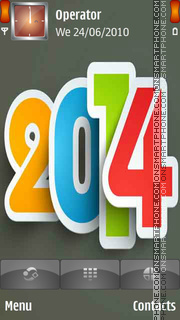 2014 Happy New Year es el tema de pantalla