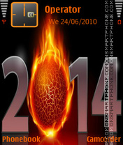 New Year Fire 2014 theme screenshot
