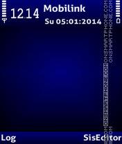 Blue GR tema screenshot