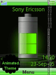 Green Battery theme screenshot