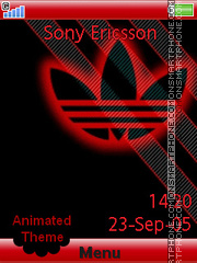 Adidas Red theme screenshot