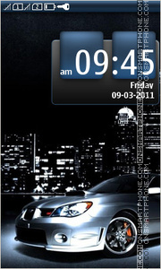 Night Subaru Drive theme screenshot