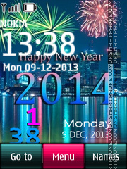2014 Digital Clock theme screenshot