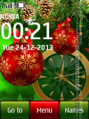Christmas Dual Clock 04 theme screenshot
