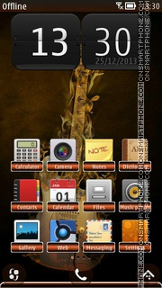 Guitar Music 3.5 HD theme screenshot