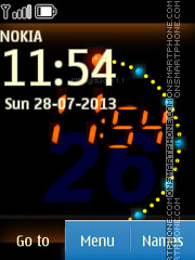 Orange Clock 05 theme screenshot