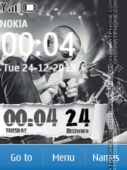Linkin park clock 03 theme screenshot