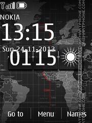 World Map 01 theme screenshot