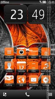 Orange Fishbone es el tema de pantalla
