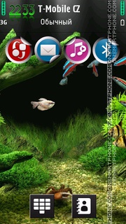 Little Aquarium tema screenshot